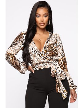 Little White Lies Animal Top   Brown/Combo by Fashion Nova