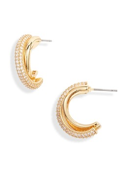 Small Pavé Hoop Earrings by Ettika