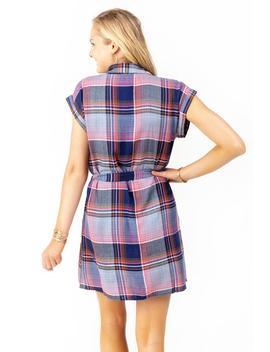 Lexie Plaid Shirt Dress by Francesca's