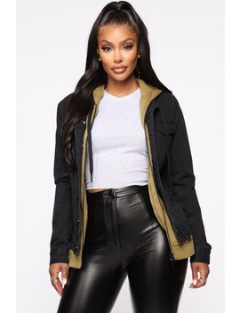Day Dates Jacket   Black/Olive by Fashion Nova