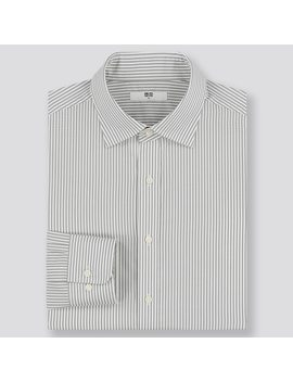 Men Easy Care Regular Fit Striped Shirt by Uniqlo