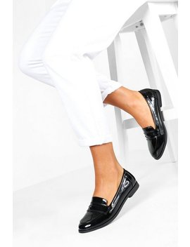 Wide Fit Flat Loafers by Boohoo