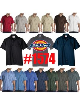 Dickies Mens Short Sleeve Work Uniform Button Up Casual Shirt 1574 Sizes S 6 Xl by Ebay Seller
