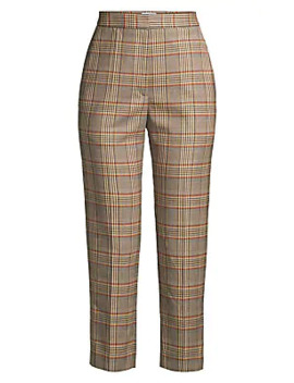 Stainy Plaid Trousers by Sandro