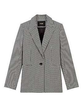 Vadimy Houndstooth Single Button Blazer by Maje