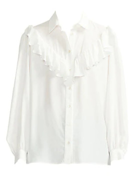 Cilo Ruffle Blouse by Maje