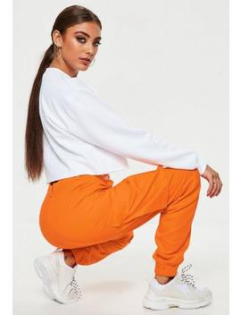 Tall Orange Plain Cargo Trousers by Missguided
