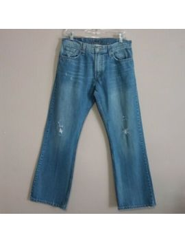 Levi's 527 Light Wash Low Bootcut Distressed Jeans Euc   Size 31 X 30 by Levi's