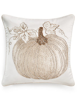"Pumpkin 18"" X 18"" Decorative Pillow, Created For Macy's by General"