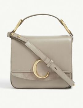 C Small Square Leather Shoulder Bag by Chloe