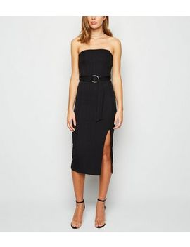 Black Bandage Bandeau Bodycon Midi Dress by New Look