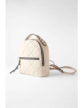 Medium Studded Quilted Backpack  View All Bags Woman by Zara