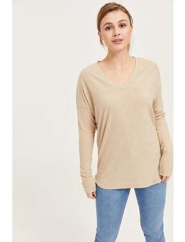Brushed V Neck Sweater by Ardene
