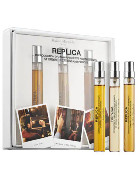 'replica' Travel Spray Set   Jazz Club, Whispers In The Library, By The Fireside by Maison Margiela