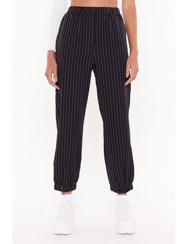Line To Five Pinstripe Cargo Trousers by Nasty Gal