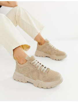 Asos Design Drone Chunky Sneakers In Sand by Asos Design