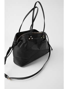 Vatteret Shopper Taske I Nylontasker Dame by Zara