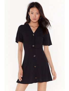 Get Button With It Ribbed Mini Dress by Nasty Gal