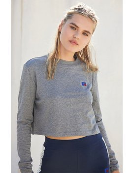 Russell Athletic Scarlett Cropped Long Sleeve T Shirt by Pacsun