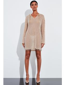Peace + Love White Pearl Embellished Hooded Dress by Missguided