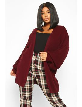 Plus Bell Sleeve Knitted Cardigan by Boohoo