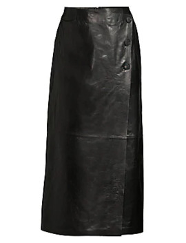 Leyla Leather Skirt by Lafayette 148 New York