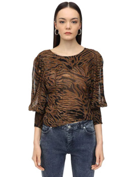 Interchangeable Printed Georgette Blouse by Ganni