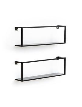 Hiba Metal Wall Shelves, 50cm (Set Of 2) by La Redoute Interieurs