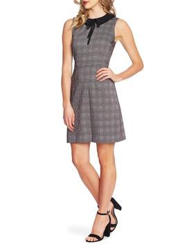 Contrast Collar Menswear Plaid Dress by Cece