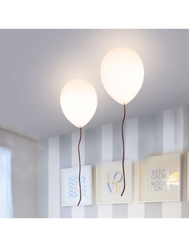 Balloon Flush Light Fixtures Stylish Milky Glass 1 Light Ceiling Light For Children Room by Beautiful Halo