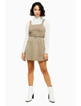 Petite Jacquard Belted Pinafore Dress by Topshop