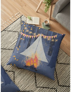 Camp Floor Pillow by Sarah Deters