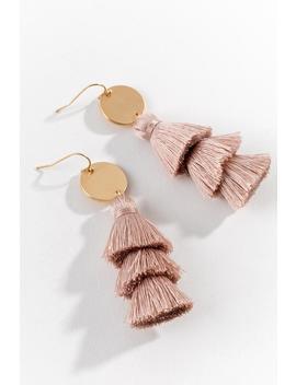 Daphne Tassel Earrings In Pink by Francesca's