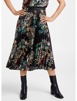 Luminism Nocturnal Garden Pleated Skirt by Judith & Charles