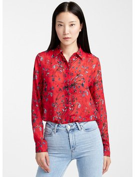 Elifia Floral Silky Blouse by Hugo
