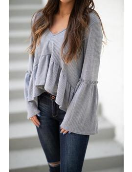 Perfect Pastime Top  Heathered Grey by Hazel & Olive