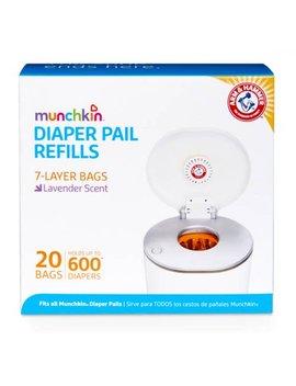 Munchkin Diaper Pail Refill Bags, 20 Bags by Munchkin