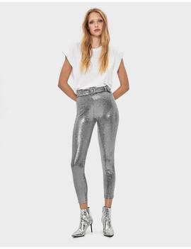 Glittery Trousers by Bershka