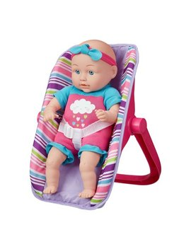 My Sweet Love 13 Inch Baby Doll With Carrier 4 Piece Play Set, Pink by My Sweet Love