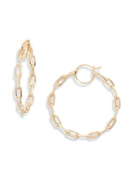 Cubic Zirconia Links Hoop Earrings by Nadri