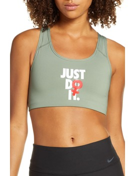 Rebel Swoosh Just Do It Dri Fit Sports Bra by Nike