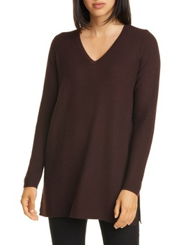 V Neck Wool Tunic by Eileen Fisher