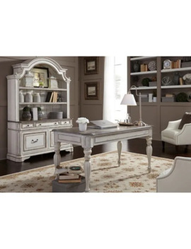 Magnolia Manor Antique White 3 Piece Desk And Hutch Set by Liberty