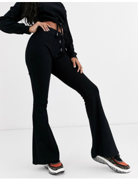 Sixth June High Waist Flares In Soft Rib Co Ord by Sixth June
