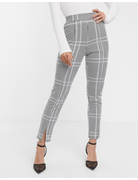 Asos Design Jersey Check Slim Leg Suit Pants by Asos Design