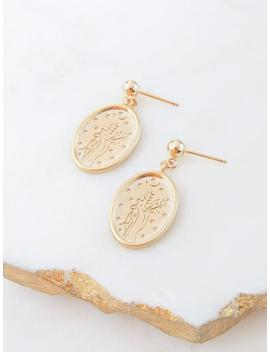 Moon And Star Stud Earrings | Celestial Drop Earrings | Dainty Boho Earrings Gift For Women | Gold Moon Dangle Coin Earring by Etsy