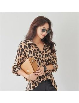 Pippin   Pocket Front Leopard Blouse by Pippin