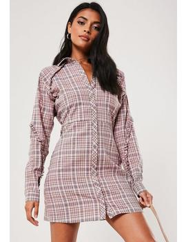 Robe Chemise Rose à Carreaux by Missguided