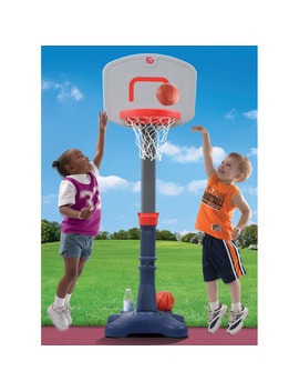 Step2 Shootin' Hoops Junior 48 Inch Basketball Set Kids Portable Basketball Hoop For Toddlers by Step2