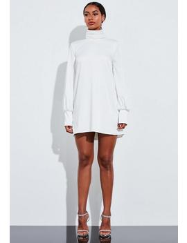 Robe Courte Ivoire Blouson à Col Roulé Peace + Love by Missguided